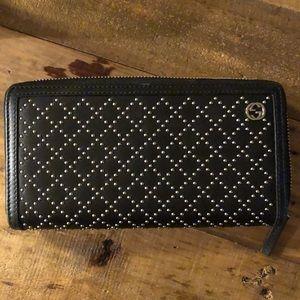Gucci studded diamanté zip wallet